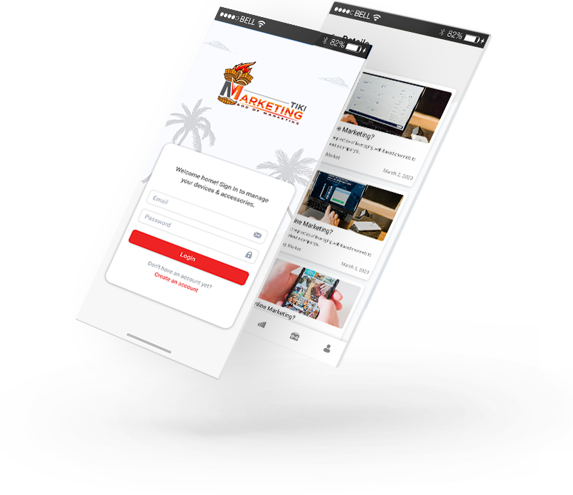 small business mobile app screen